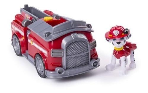 paw patrol figuras carro + figura everest ryder - marshall