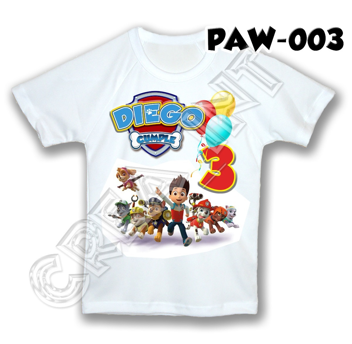paw patrol franela camisa personalizada cumpleaños cotillon. Cargando zoom. df2e00bef5525