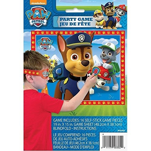 Paw Patrol Happy Birthday Banner Y Party Game Para 16 Por Bt