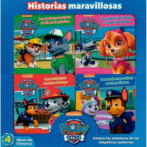paw patrol historias maravillosas 4 libros infantiles