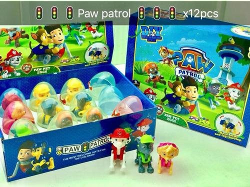 paw patrol huevos sorpresa caja x 12 uds