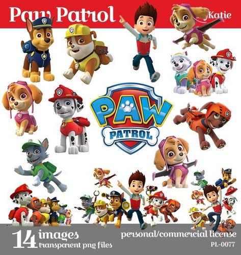 paw patrol kit papeles digitales e imágenes clipart