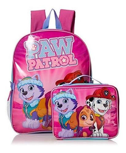 paw patrol little girls skye and friends 15 mochila con kit