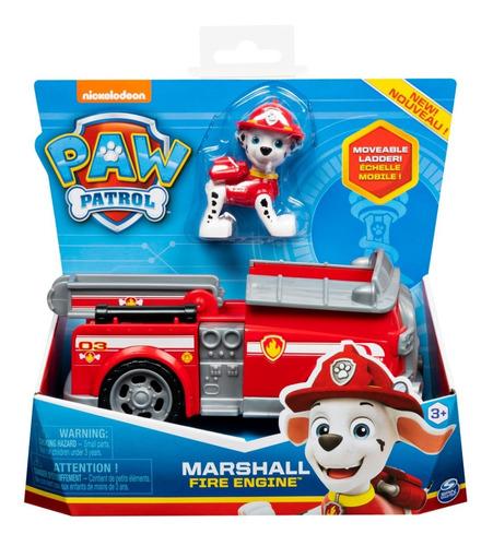 paw patrol - marshall con vehiculo - bombero - original!!!!