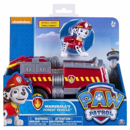 paw patrol marshall's figura grande mas vehiculo original