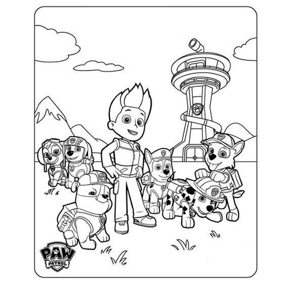 Paw Patrol Patrulla De Cachorros Libro Colorear O Crayolas - $ 8.50 ...