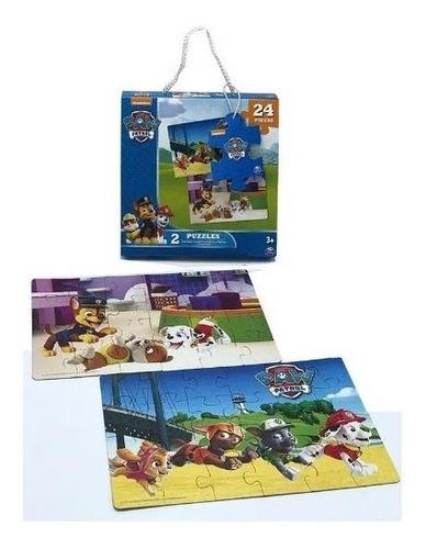 paw patrol rompecabezas 2 puzzles 24 piezas