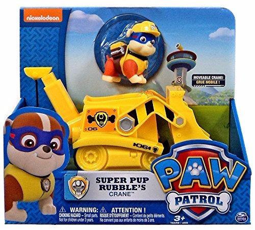 paw patrol rubble's figura grande mas vehiculo original eeuu