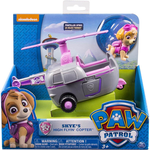paw patrol skye's figura grande mas vehiculo original  u s a