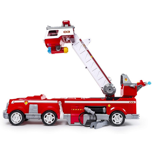 paw patrol ultimate camion bomberos  con escalera extensible