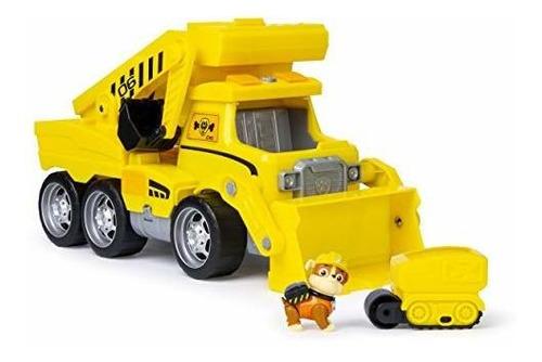 paw patrol, ultimate rescue construccion camion con luces, s
