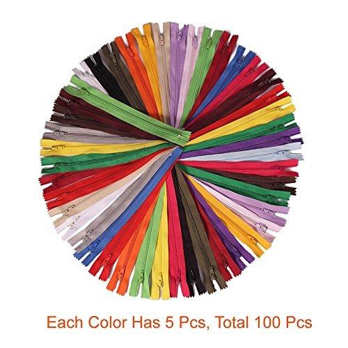 paxcoo 100pcs 9 pulgadas cremalleras de bobina de nylon a