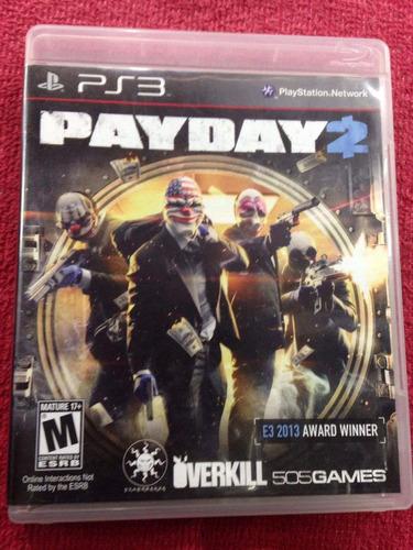 pay day 2 payday ps3 play 3 fisico vendo o cambio