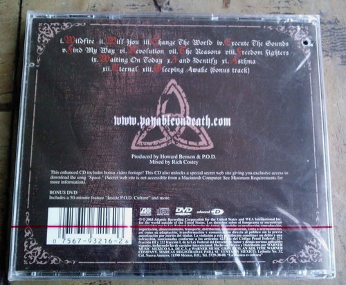 payable on death cd - dvd debut,sellado,nuevo,c/ coleccionab