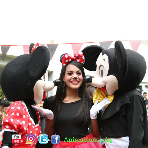 payasitas muñecotes  mickey minnie  peppa recreadoras