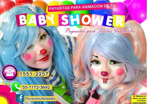 payasitas para amenizar tu baby shower - cdmx y edomex