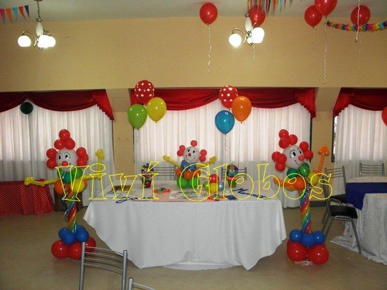 Payaso De Globos Decoracion Cumpleanos Munecos Infantiles 24000 - Decoracin-cumpleaos-infantiles