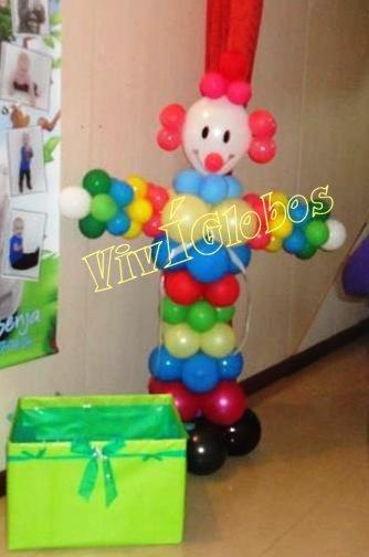 payaso de globos decoracion cumpleaos muecos infantiles