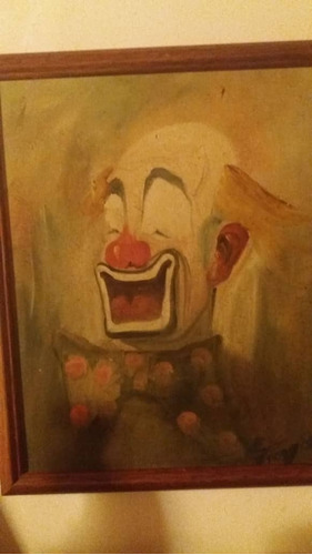 payaso, oleo de troya, pintor venezolano (caracas)