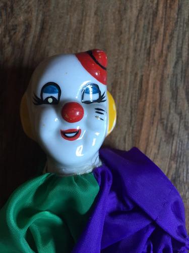 payaso porcelana figura muñeca