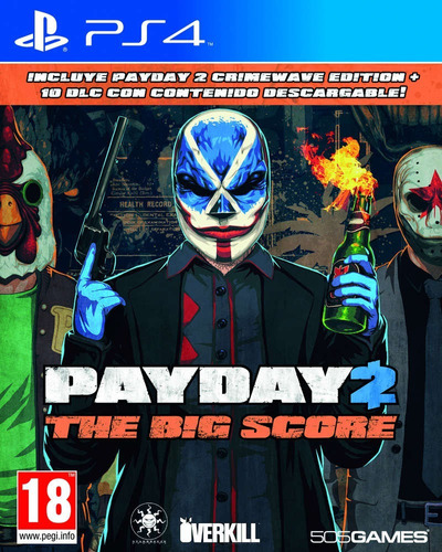 payday 2 crimewave edition ps4 original físico - addware