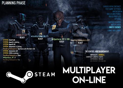 payday 2 pc descarga digital steam online original