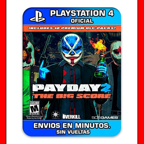 payday 2 the big score ps4 digital crimewave edition oferta