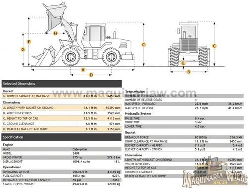 payloader cargador frontal 988b caterpillar 375 hp. 12049