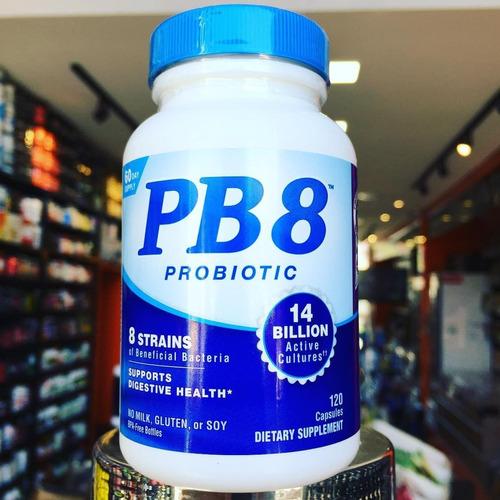pb8 120 cáps (probiótico) 14 bilhoes - novo rotulo 2018