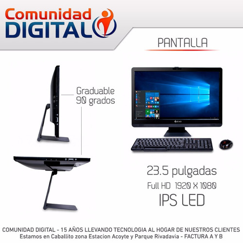 pc aio exo h8-a3145 core i3 4g 500gb 23ips fullhd hdmi dvd