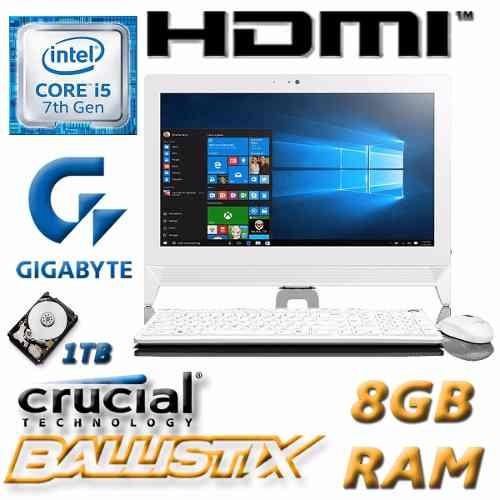 pc all in one i5 7400 1tb 8gb hdmi wifi 22  garantia local