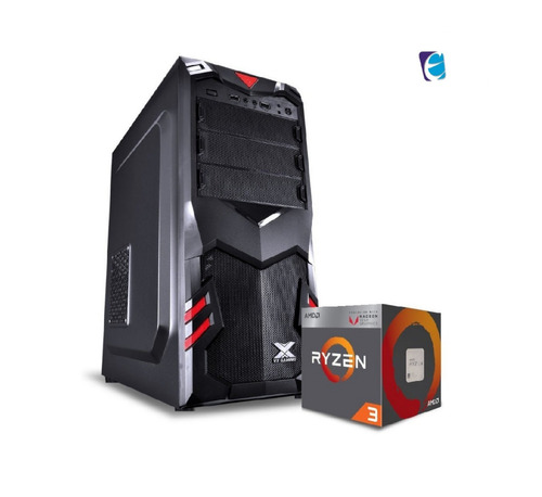 pc aquila ryzen r3 2200g a320m hd 2x 4gb fury ssd120 bc500 i