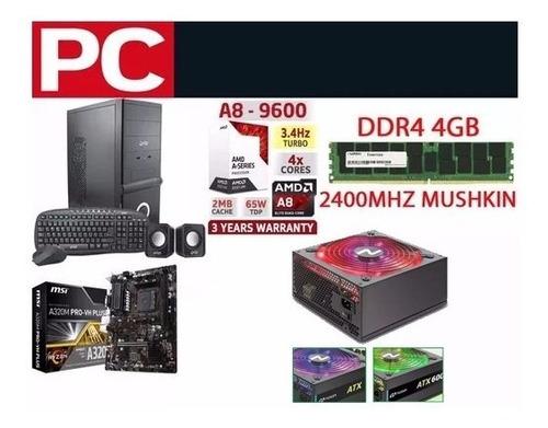 pc armada a8 9600 4gb ram 1tb gabinete kit computadora