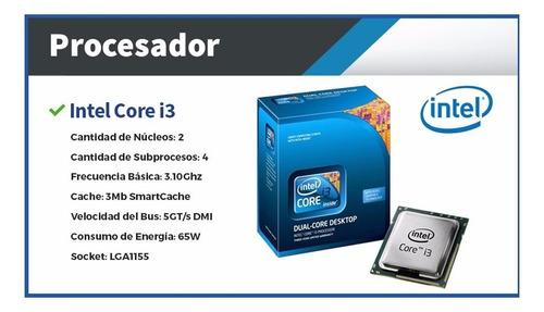 pc armada cpu computadora escritorio i3 4gb ssd - cuotas