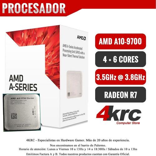 pc armada gamer amd a10 9700 10 nucleo ssd 120 ram ddr4 4gb 2400mhz vga y hdmi