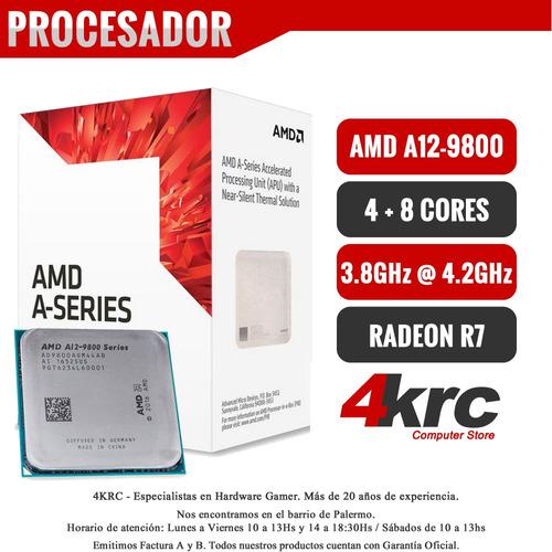 pc armada gamer amd a10 9700 video r7 8gb ddr4 led curvo 24
