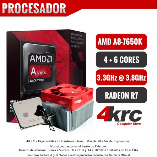 pc armada gamer amd a8 7650k 10 nucleos 1tb video r7 hdmi