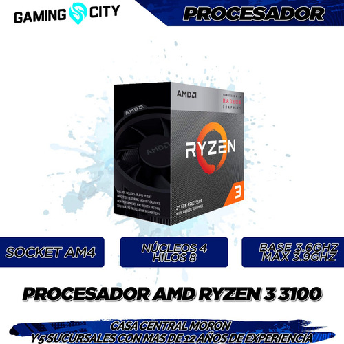 pc armada gamer amd ryzen 3 3100 4c8t 16gb ram ssd rx 570