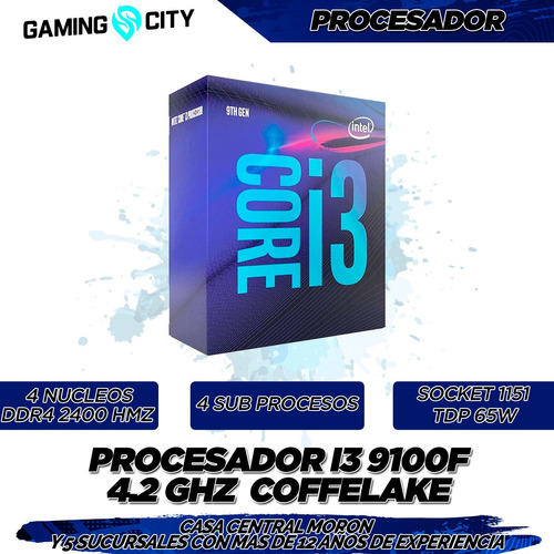 pc armada gamer i3 9100f 9na 1151 8gb ddr4 ssd  rx580  hdmi