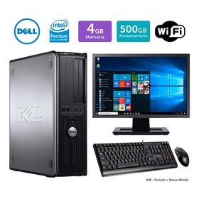 Pc Barato Dell Optiplex 780int Dcore 4gb 500gb Mon17w Brinde