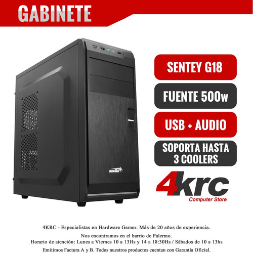 pc completa armada intel i5 8400 8va ddr4 1tb con monitor 19 widescreen