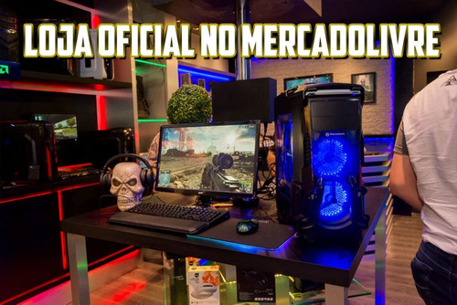 pc completo gamer com monitor lcd! 8gb, wifi + 30 jogos!
