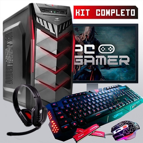 pc completo gamer com wi-fi, + 40 jogos, promoção!