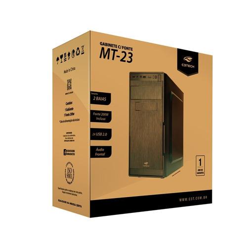 pc completo hd 500gb 4gb teclado mouse caixa som+ fone