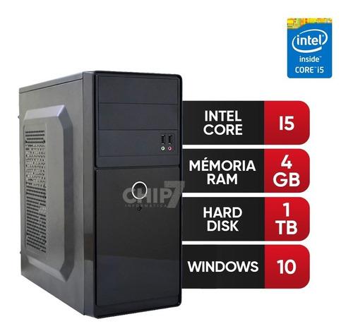 pc completo intel core i5, 4gb ram ddr3, hd 1tb