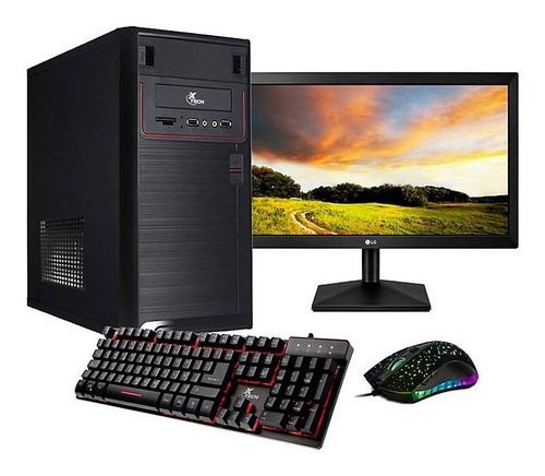 pc computador completo fullbox ryzen 3200g 8gb/240gb/20  led