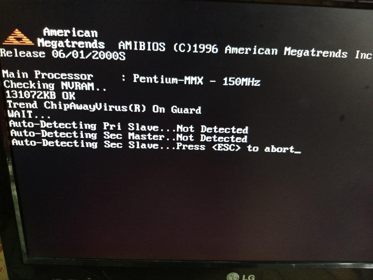 Pc Computador Cpu Pentium 150mhz Antigo 286 386 486 Antigo