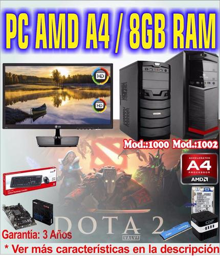 pc computadora a4 gamer gaming pc completa amd a4-7300 8gb +