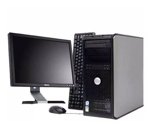 pc computadora dell core 2 duo 2gb 250gb + monitor lcd y mas