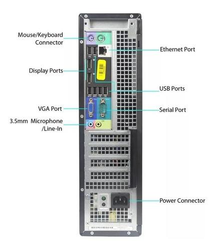 pc cpu dell optiplex core i3  8gb ddr3 ssd 240 gb wifi